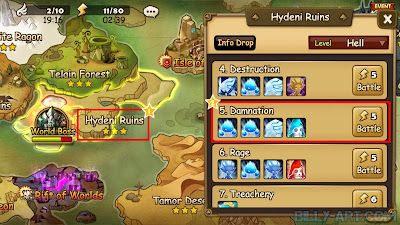 Map Hydeni Ruins