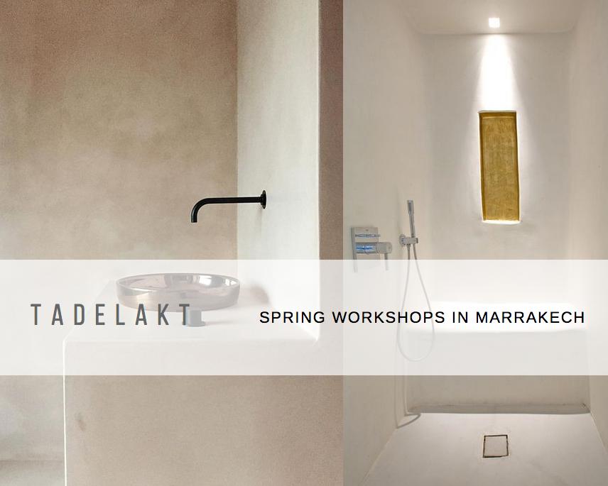 Tadelakt Workshop holiday marrakech
