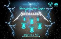 Proyección Laser METALLICA 2015