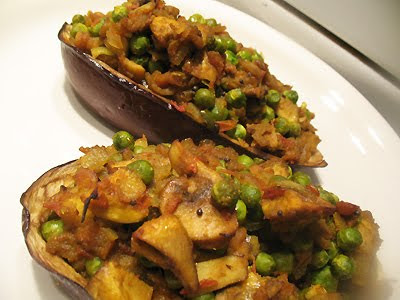 spicy stuffed eggplant