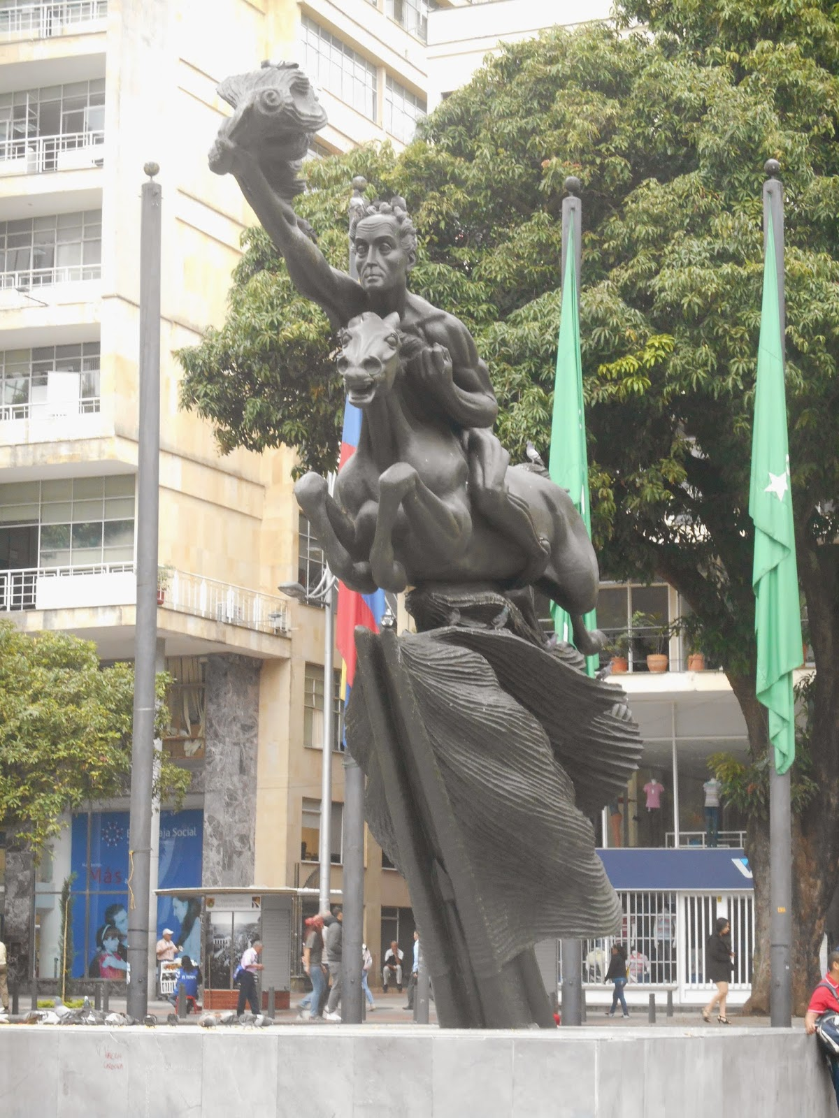 "Una foto de la escultura ""El Bolívar desnudo"", de Rodrigo Arenas Betancourt, tomada por Leonardo Bernal Tobón"