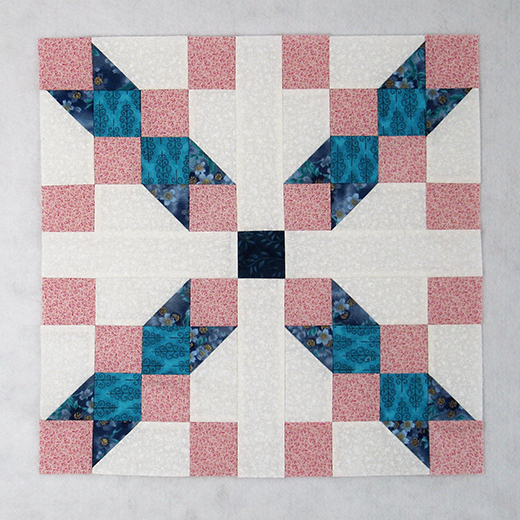 Glory Be Quilt Block designed by Elaine Huff of Fabric406