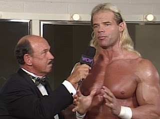 WCW WORLD WAR 3 1996 - Mean Gene interviewed Lex Luger