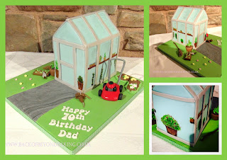 Glass house birthday cake