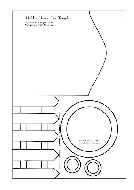 Free printable Hobbit House card template by CraftyMarie Please share the web page and not the printable thank you