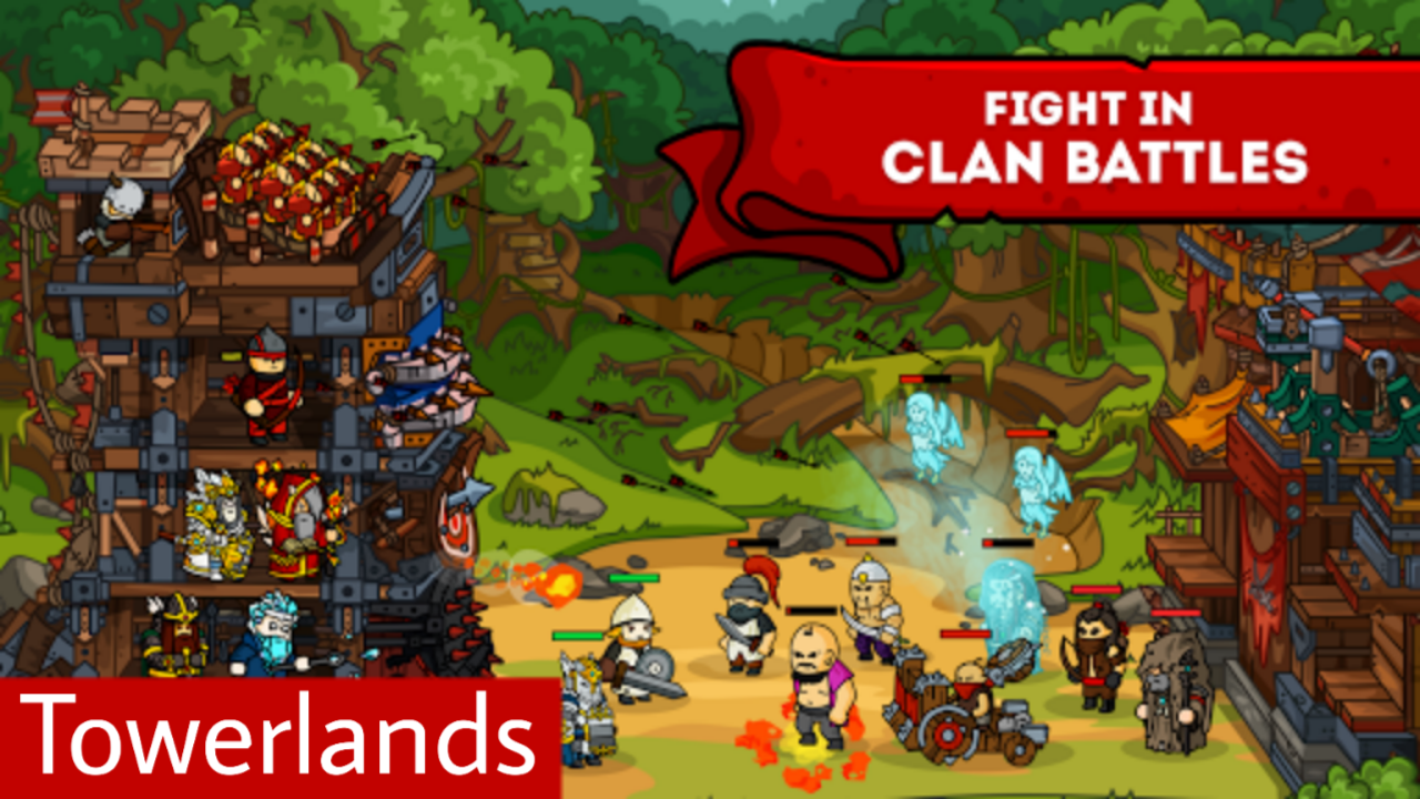 Towerlands – strategy of tower defense Mod Apk Free download for Android