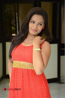 Actress Avanthika Stills in Sleeveless Red Short Dress  0025.JPG