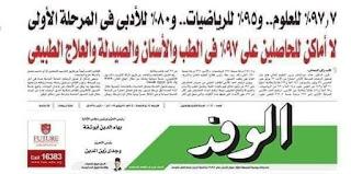 موعد ظهور نتيجه تنسيق المرحله الاولى للثانويه العامه 2019