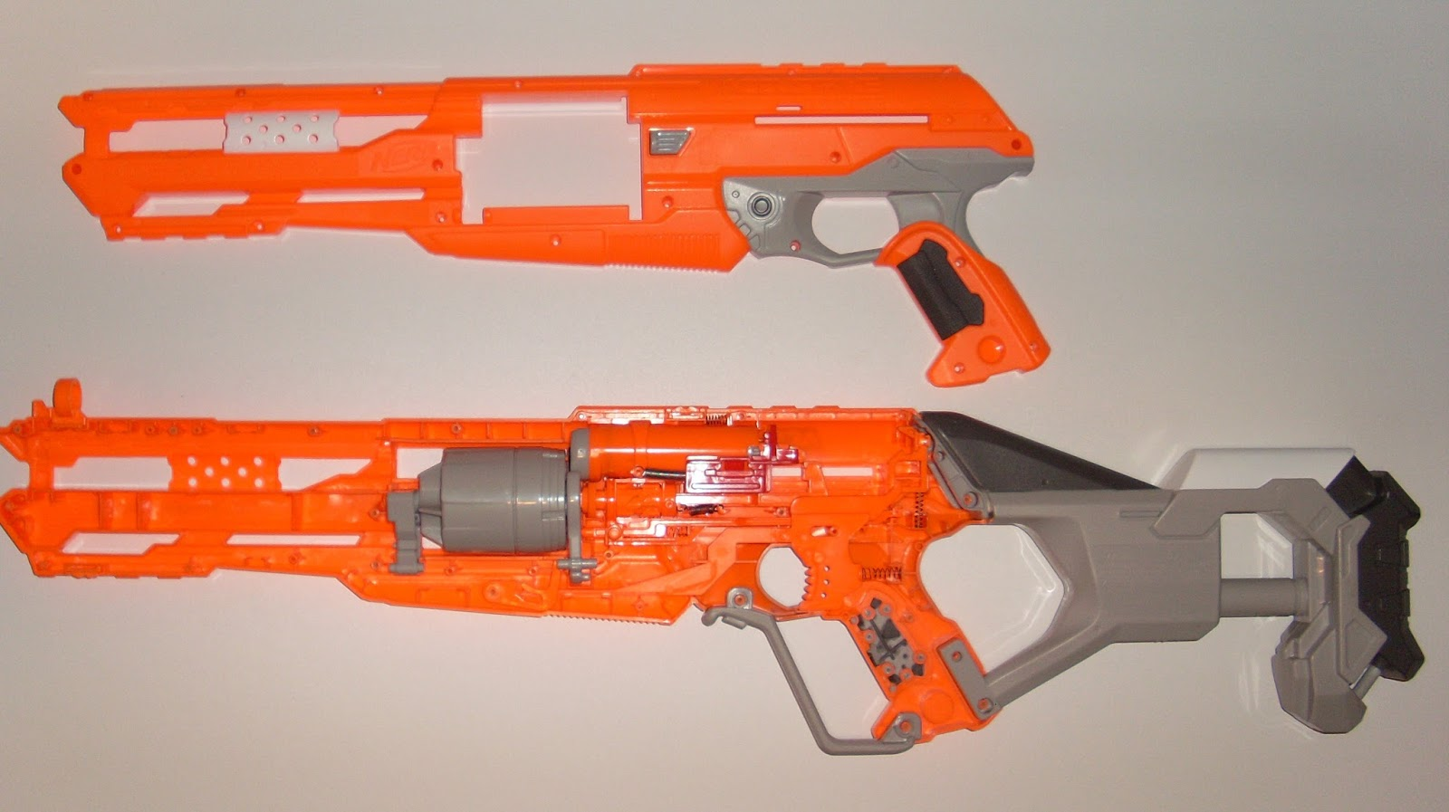 Blaster Think Tank: [Disassembly] Nerf - Accustrike Alphahawk
