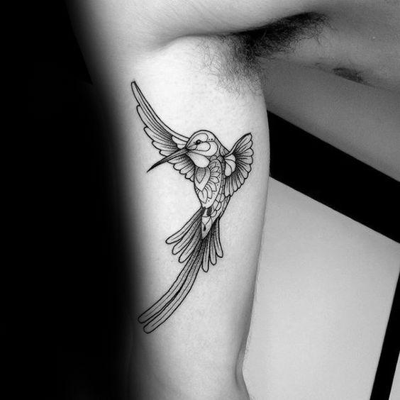 Blackworg-Hummingbird-Upper-Arm-Tattoo