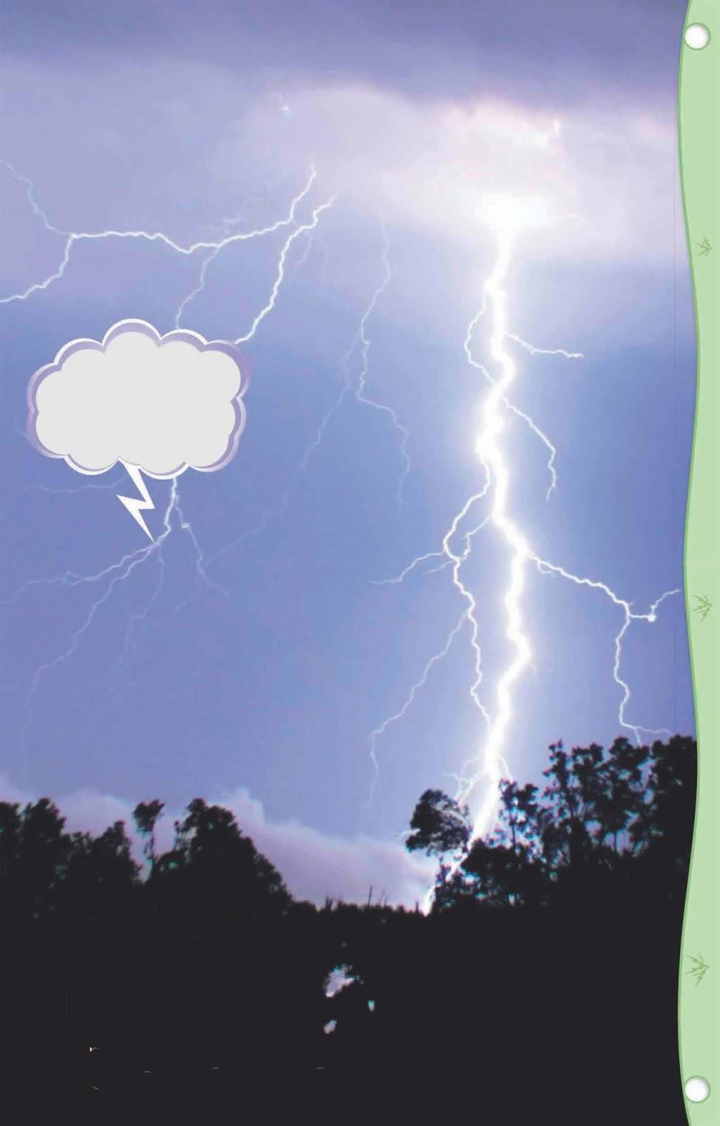 Proses terjadinya kilat petir di langit