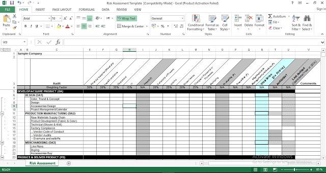 Download Risk Assessment Excel Template