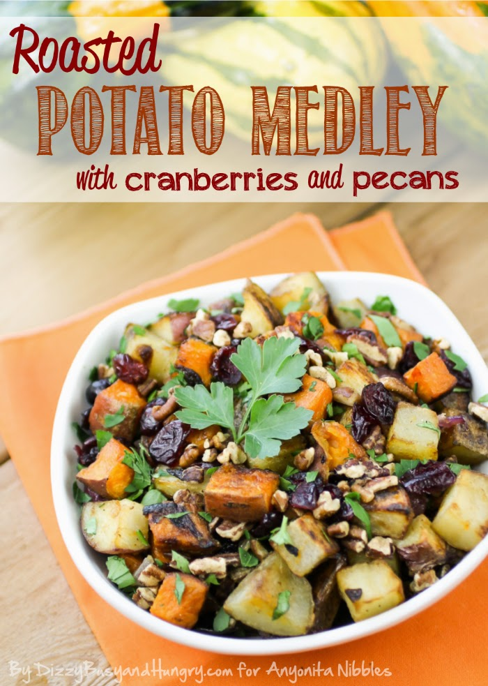 Roasted Potato Medley with Cranberries & Pecans; #glutenfree #vegan and #vegetarian from Dizzy, Busy & Hungry for anyonita-nibbles.co.uk