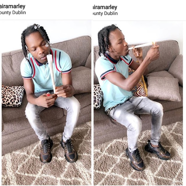 BREAKING RECORD!! Naira Marley Wraps And Smokes Biggest Weed (Photos)