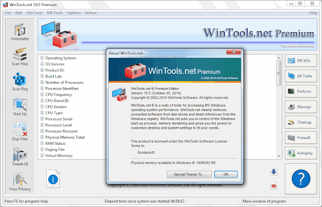 Screenshot WinTools.net Premium 19.5 Full Version