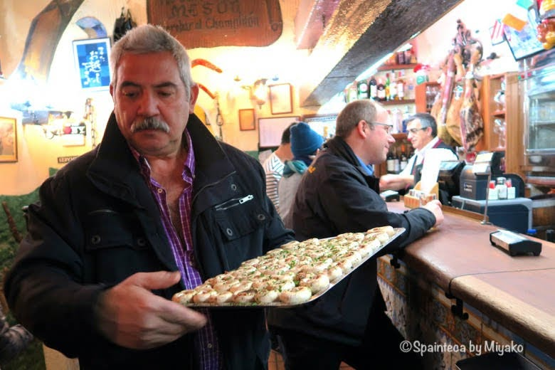 Mesón del Champiñón マドリードの下ごしらえ済みのマッシュルーム