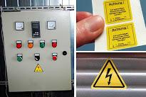 Selbstklebende Elektro-Warnzeichen