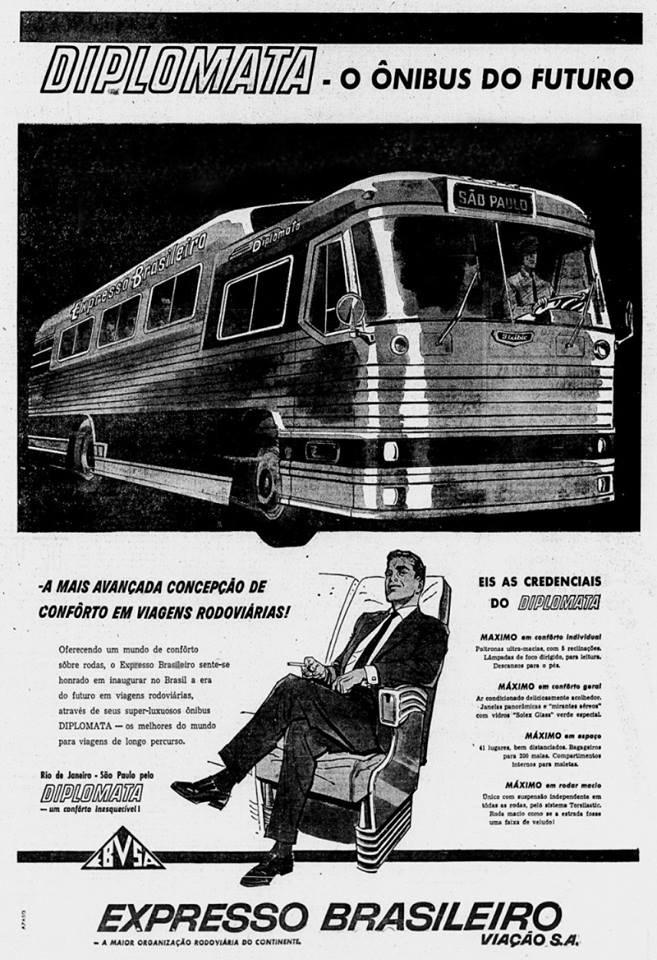 Lançamento do ônibus Diplomata no final dos anos 40 pelo Expresso Brasileiro