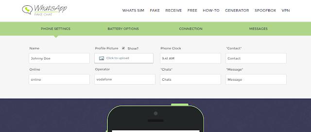 fake whatsapp chat generator online