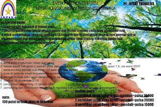 Lomba Menulis Puisi Tema Lingkungan Hidup - Aksara Aurora