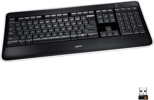 Review Logitech K800 Wireless Illuminated Keyboard