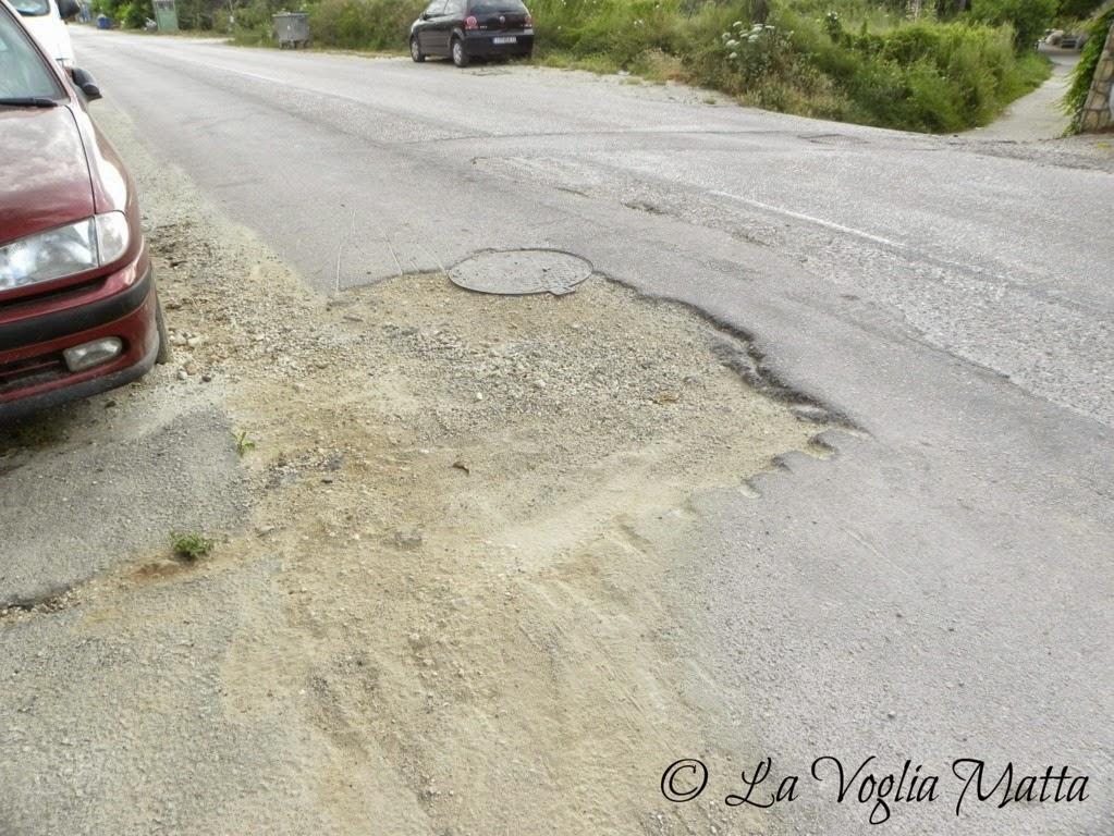 Nidri  Lefkada strada dissestata