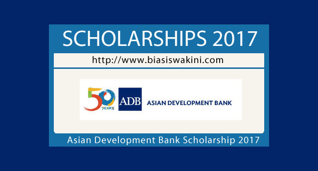 Asian Development Bank Scholarship 2017
