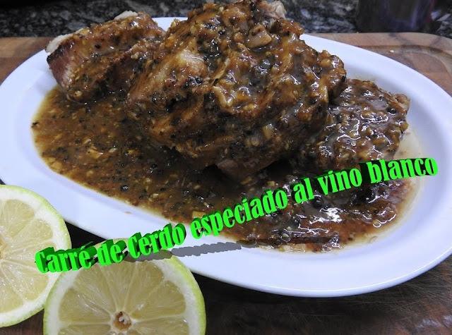 carré de cerdo especiado alvino blanco receta como hacer carre de cerdo