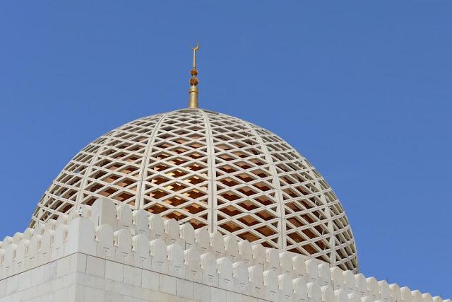 gold, Kuppel, gross, Sultan, Qabus, moschee, Muscat, Oman