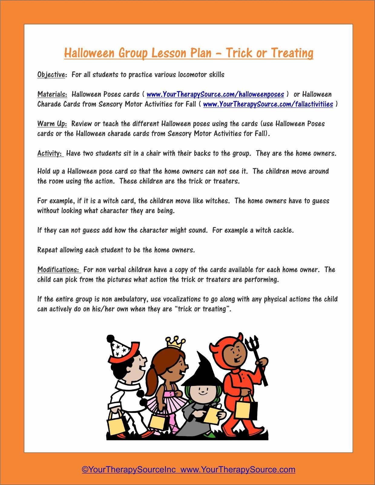 Halloween Sensory Motor Group Game