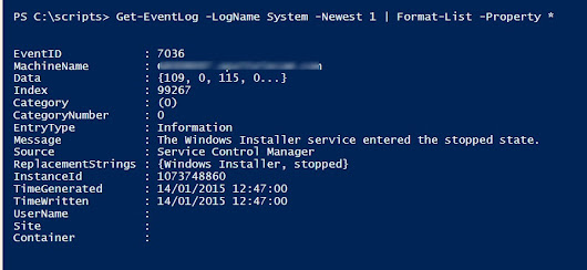 Use PowerShell to search Windows Event Logs