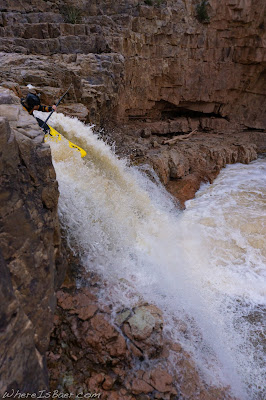 waterfall arizona kayak whitewater, slot canyon