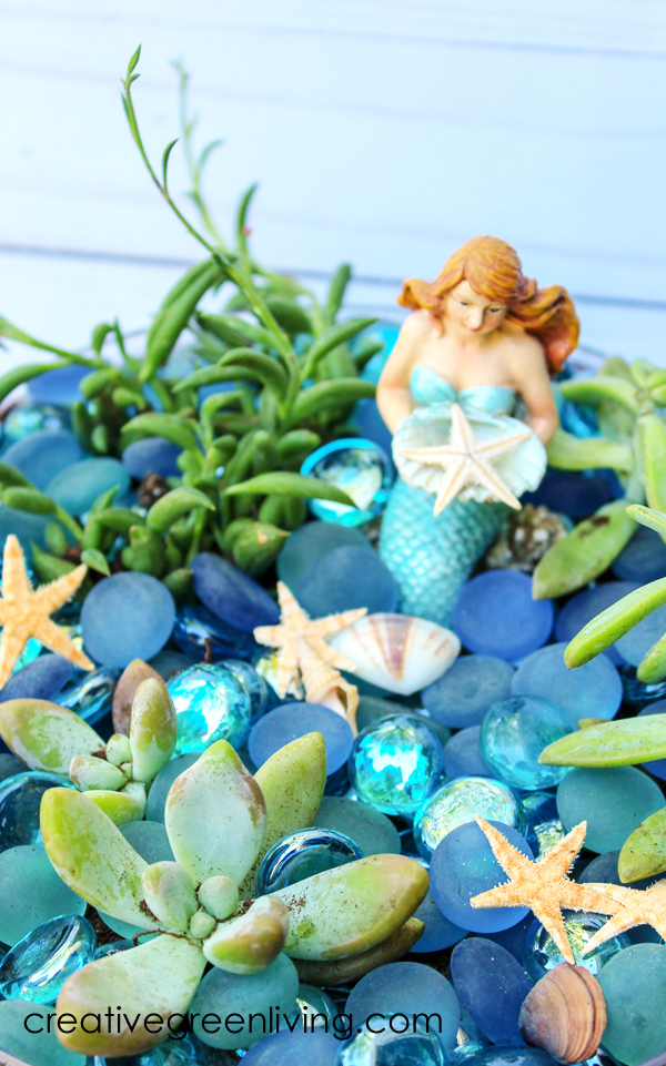 How to to plant a DIY fairy garden with mermaids