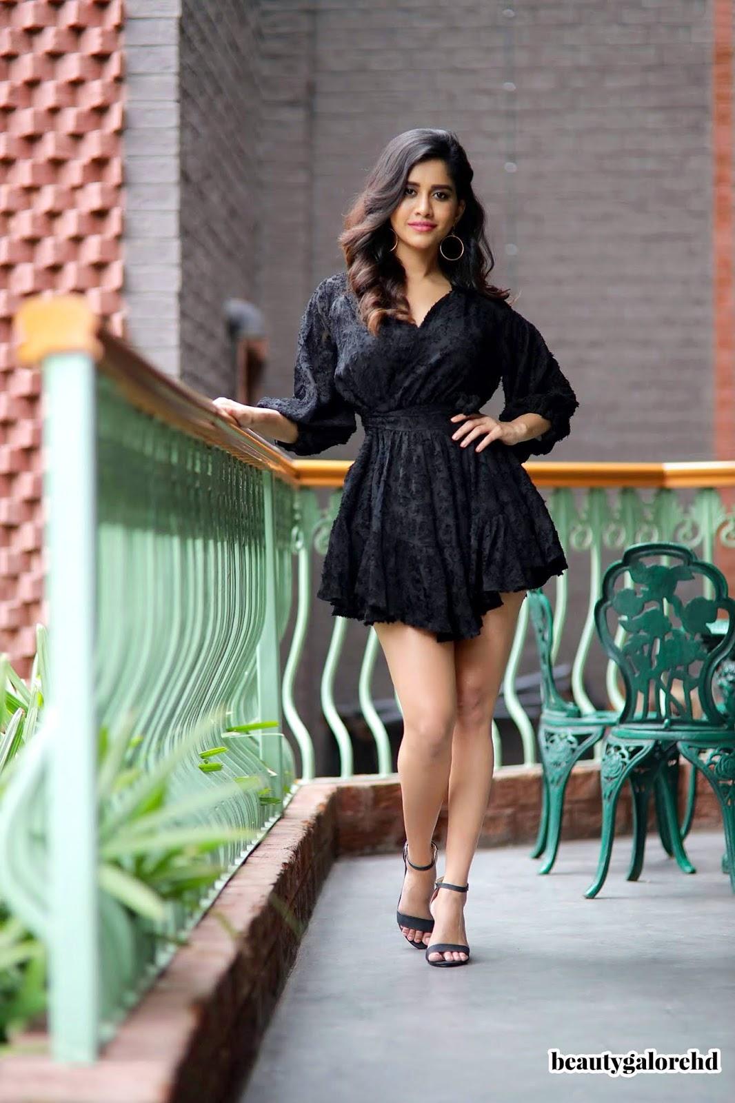 Nabha Natesh in Beautiful Black Mini Gown