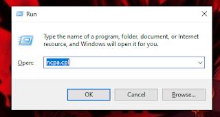 cara masuk ke menu change adapter setting pada windows 10 dan 7