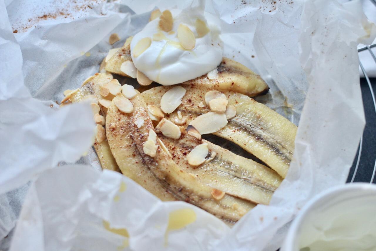 Süße Ofenbananen
