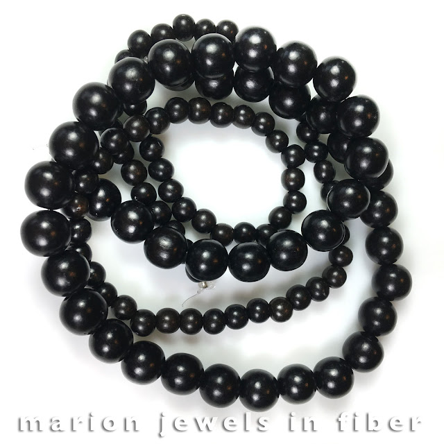 Ebony Wood Beads for Dancing Skeleton DIY Jewelry