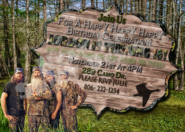 Duck Dynasty Invitation Template Party Invitations Ideas