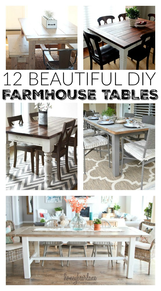 Beautiful farmhouse table plans