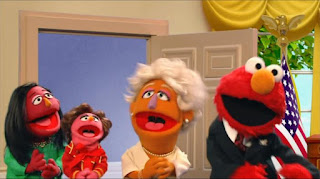 Elmo the Musical President the Musical, Elmo President of the United States, the Red House, the first, second and third ladies, Sesame Street Episode 4319 Best House of the Year season 43