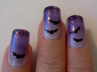 Great Lashing: Halloween Nails: Bat Girl