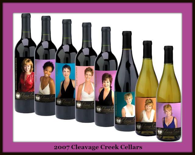 Cleavage Creek Cellars Wine Bottles 2007