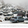 Hujan Salju Turun Di Arab Saudi