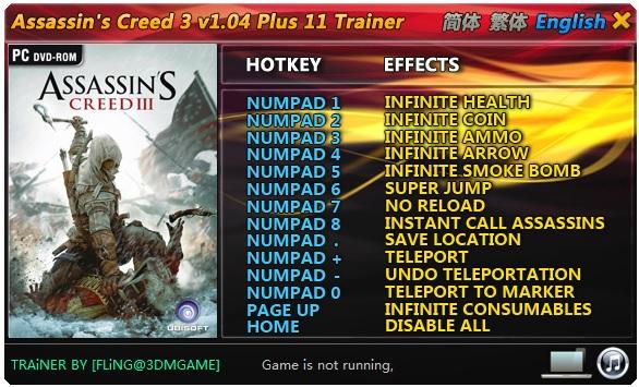 Assassins.Creed.3.v1.01.Plus.9.Trainer-FLiNG Download For Computer