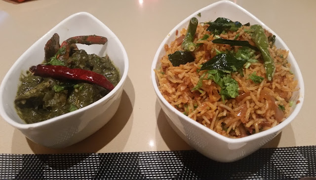 Gongura Crab and Tawa Chicken Pulao