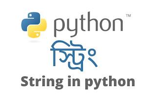 Python String Bangla Tutorial