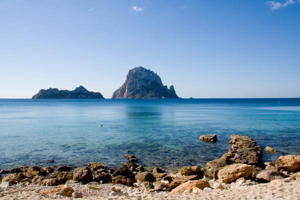 Praia Cala D'Hort e Es Vedrá em Ibiza