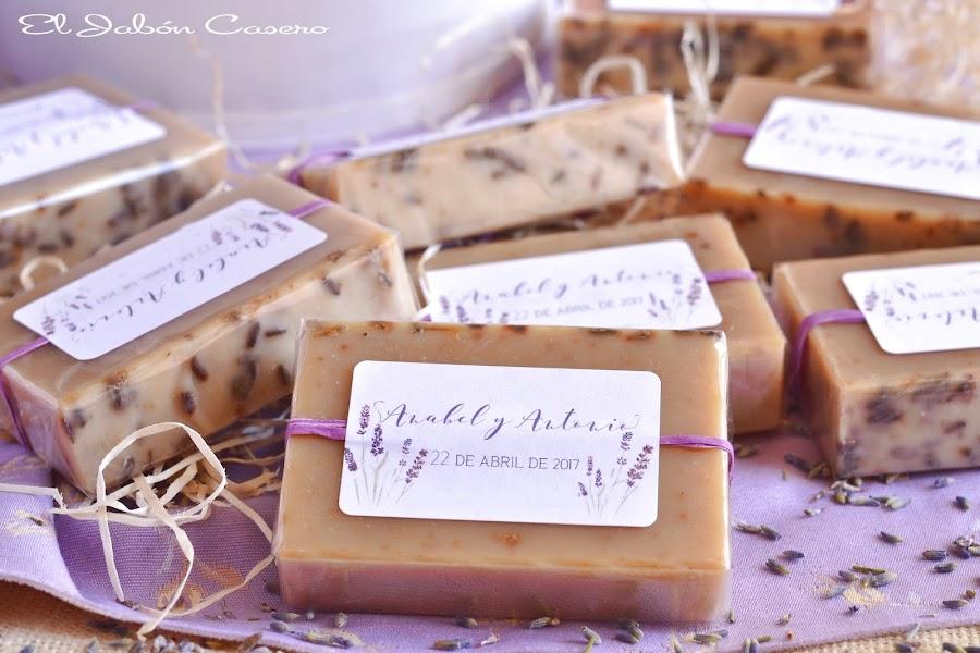 Detalles para bodas jabones naturales de lavanda