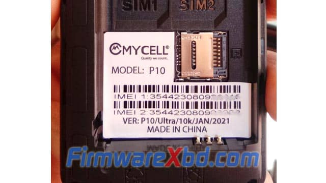 Mycell P10 6531E (New Model 2021) Flash File