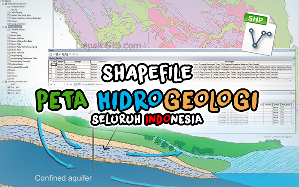 SHP Peta Hidrogeologi Seluruh Indonesia Format Shapefile